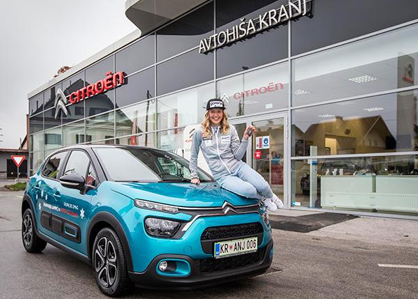 Anamarija Lampič in novi Citroën C3